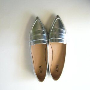 ANA Glen slip on metallic shoes